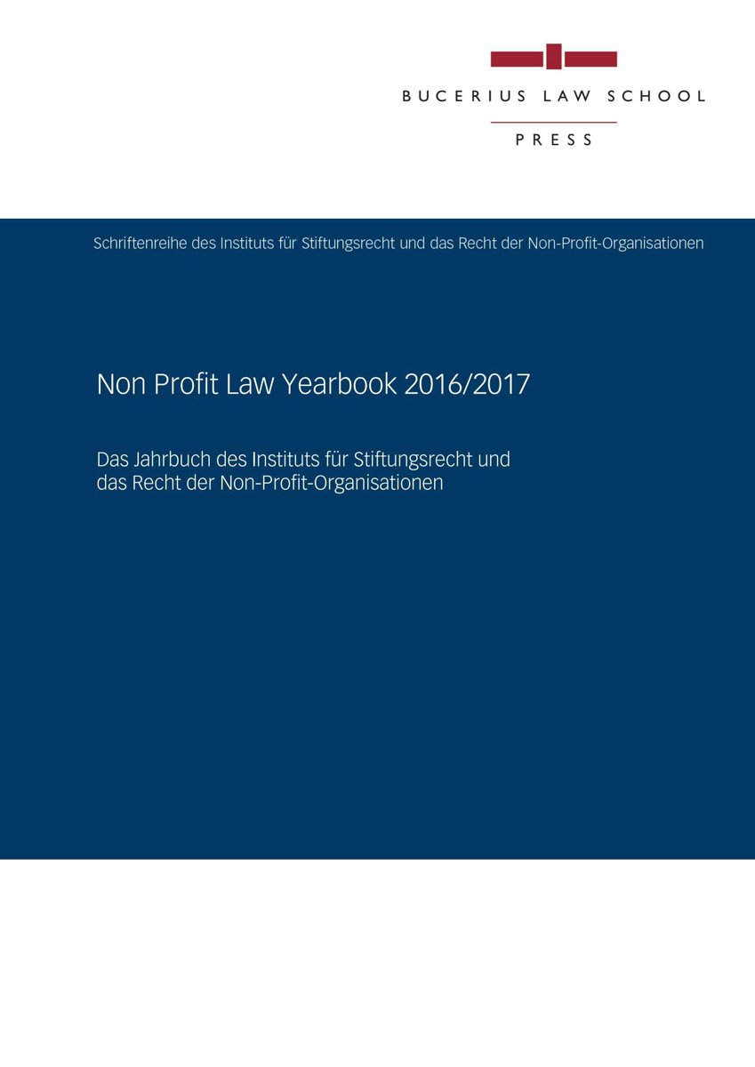 Non Profit Law Yearbook 2016/2017