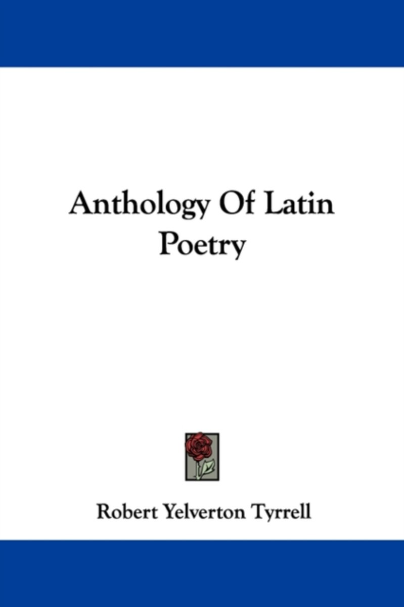 Anthology of Latin Poetry