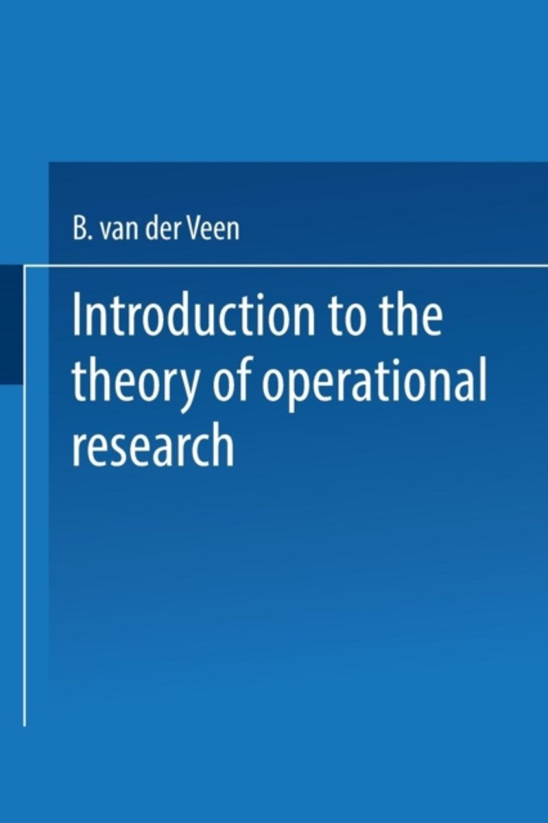 Introduction to the Theory of Operational Research