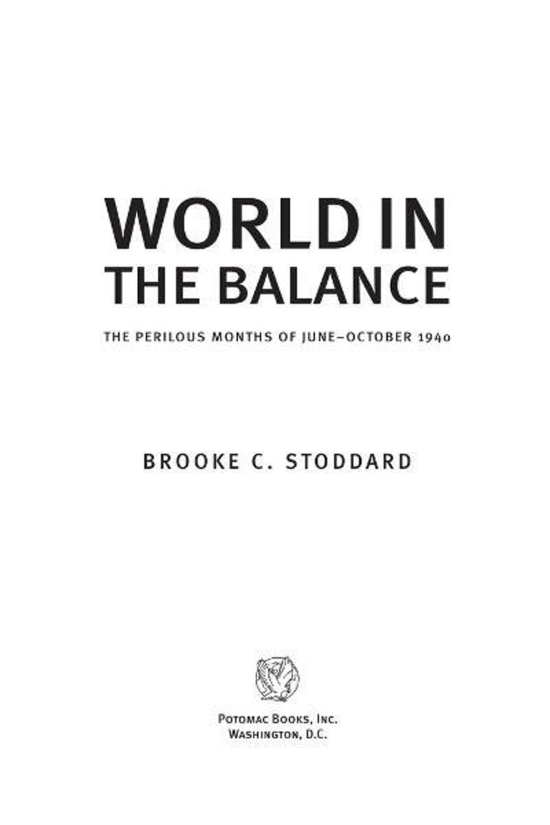 World in the Balance: The Perilous Months of June–October 1940