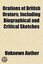 Orations Of British Orators; Including Biographical And Critical Sketches