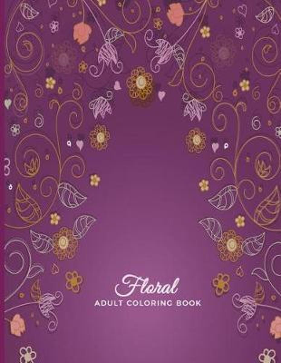 Floral Adult Coloring Book