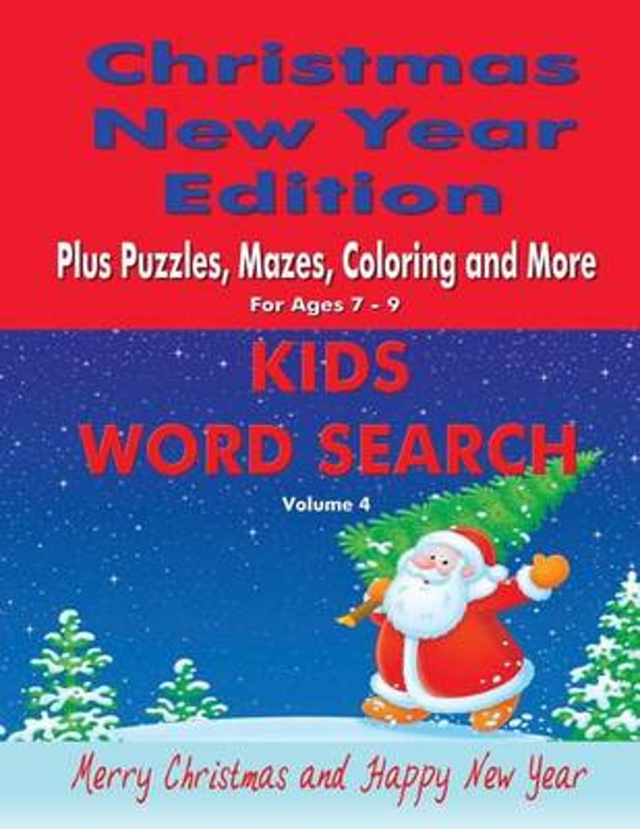 Kids Word Search Vol 4 Christmas New Year Edition