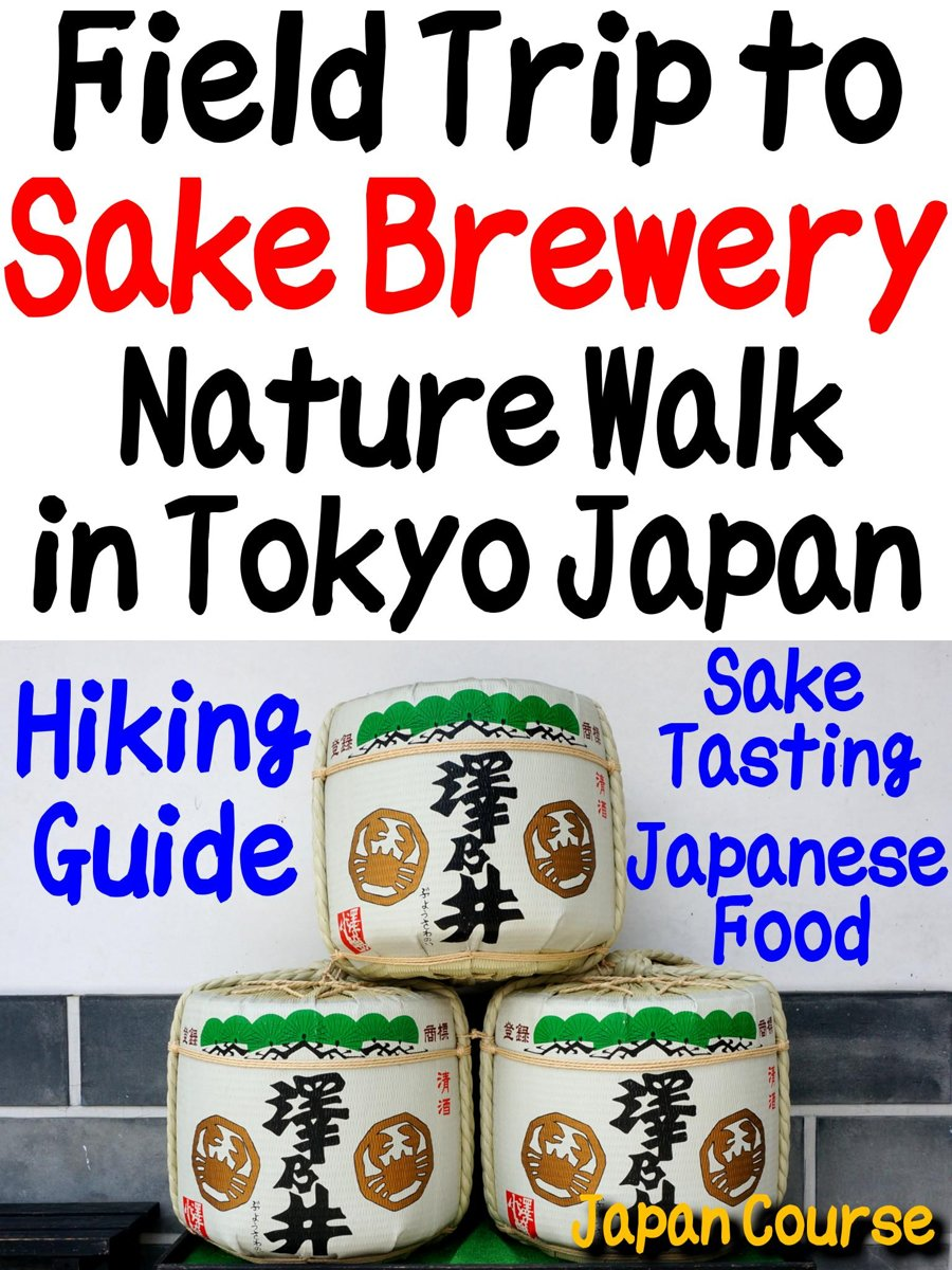 Field Trip to Sake Brewery, Nature Walk in Tokyo Japan