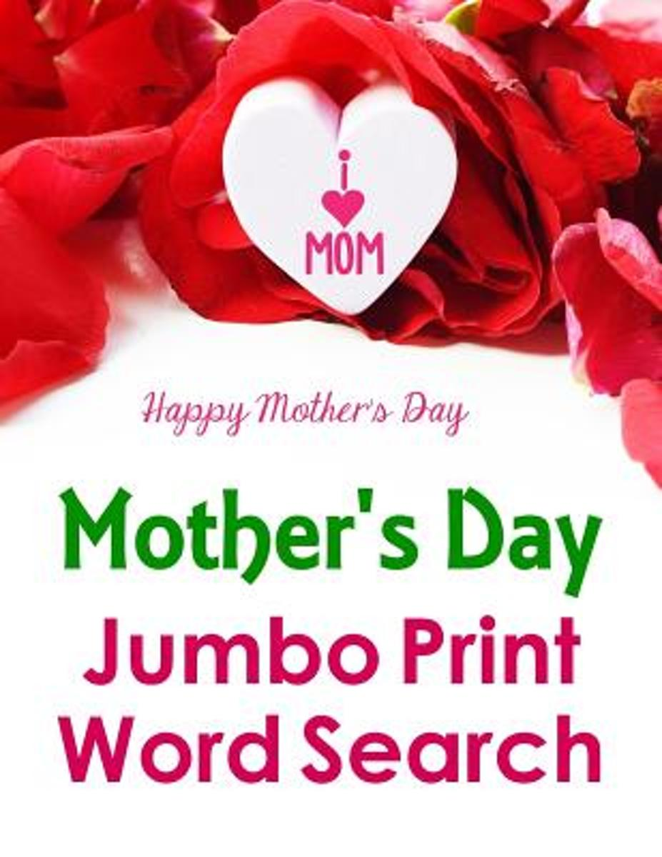 Mother's Day Jumbo Print Word Search