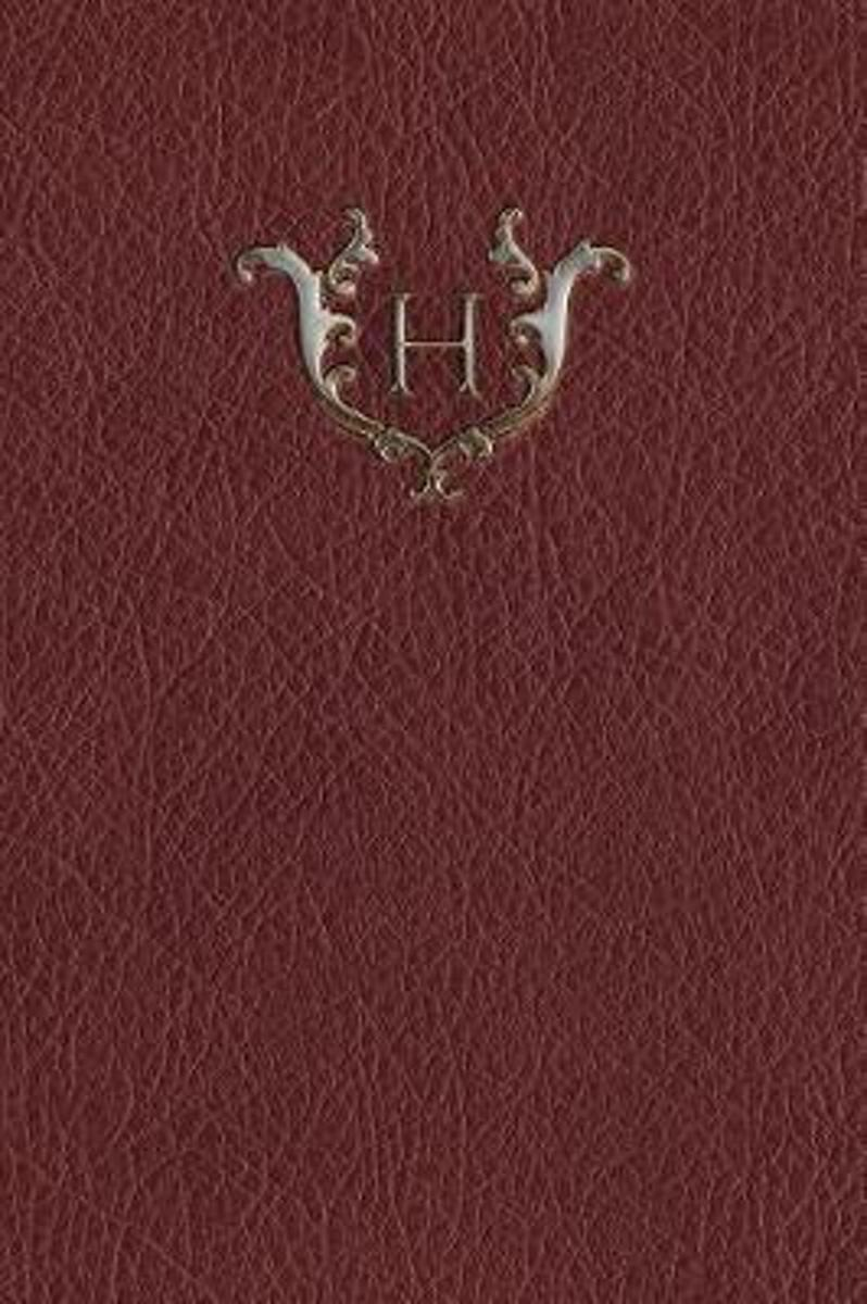 Monogram H Any Day Planner Notebook