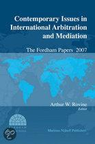CONTEMPORARY ISSUES IN INTERNATIONAL ARBITRATION & MEDIATION