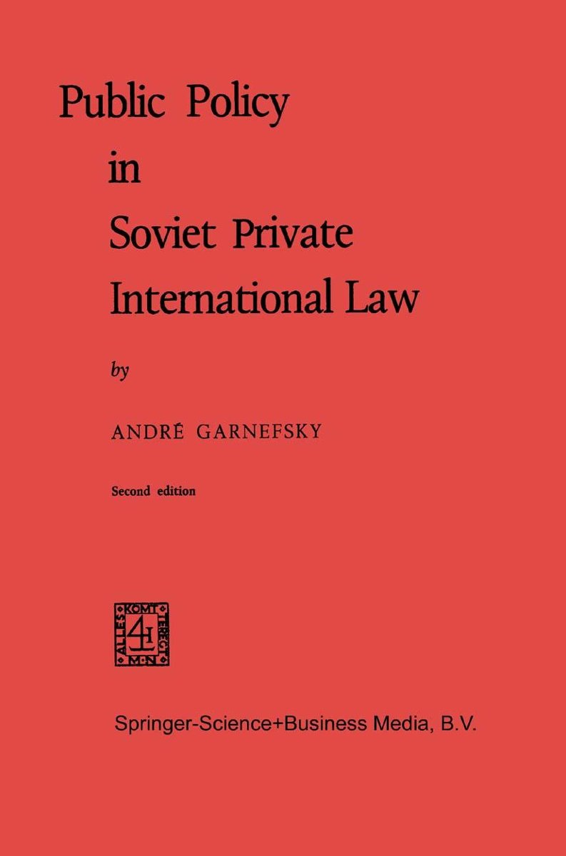 Public Policy in Soviet Private International Law