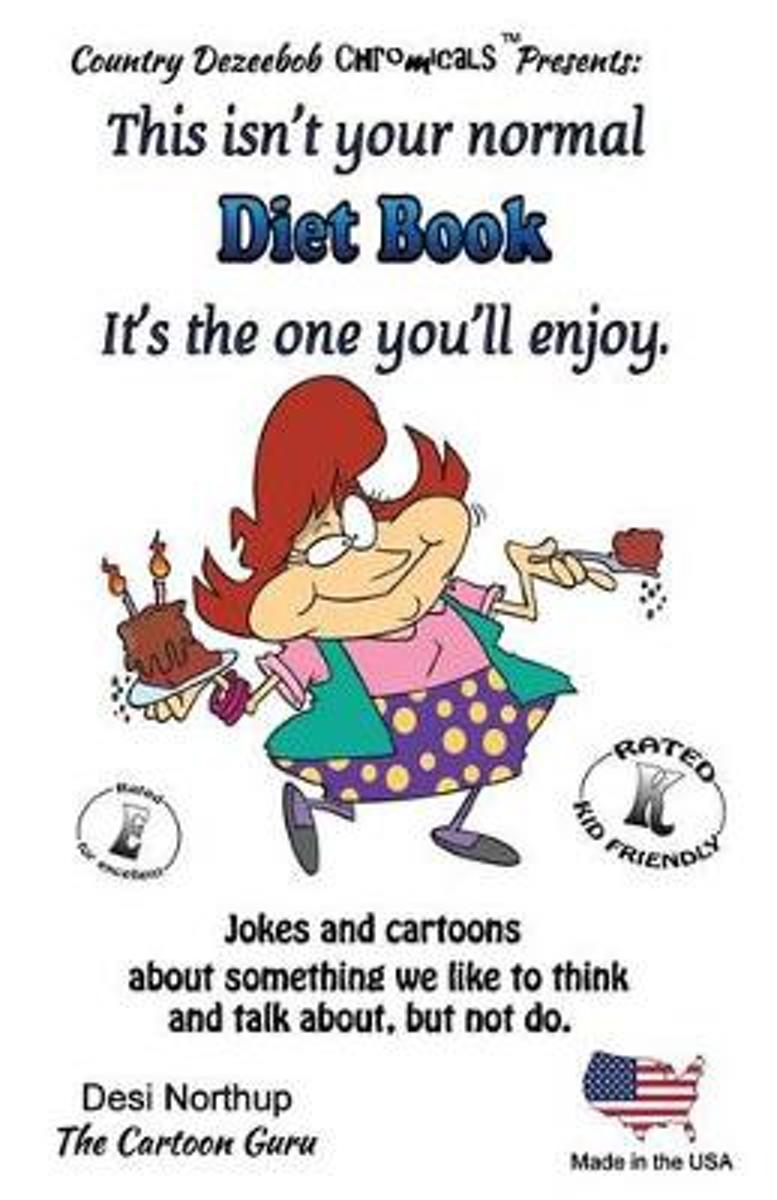 Diet Book It's One You'll Enjoy. Jokes and Cartoons