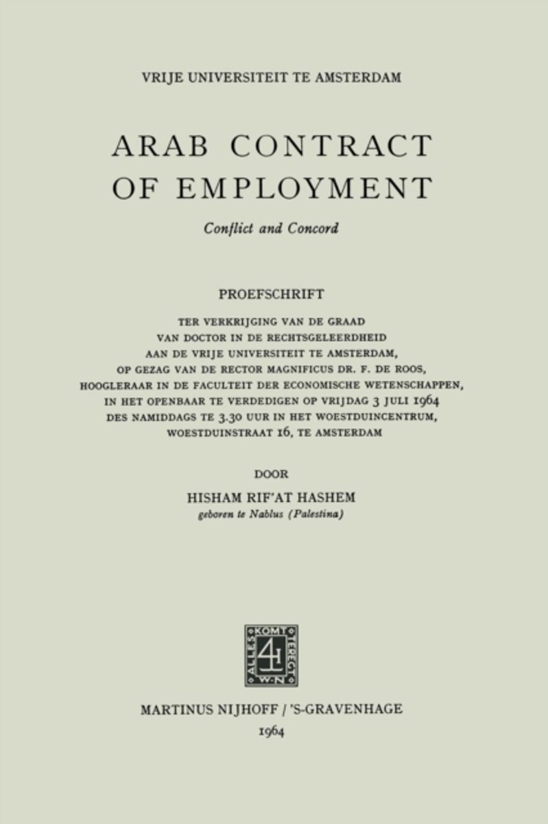 Arab Contract of Employment