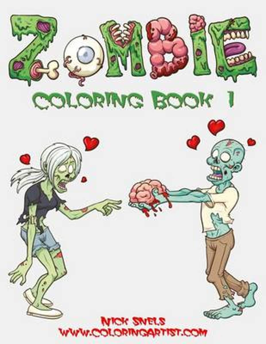 Zombie Coloring, Book 1