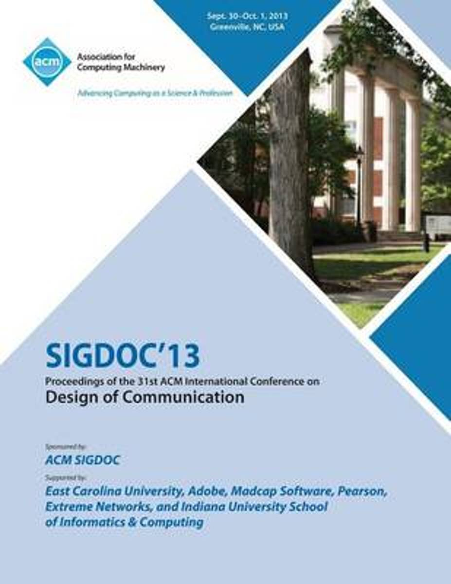 Sigdoc 13 Proceedings of the 31st ACM International Conference on Design of Communication