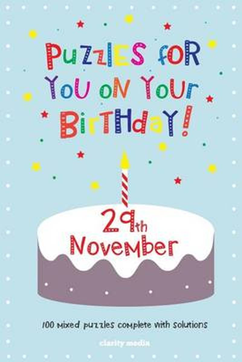 Puzzles for You on Your Birthday - 29th November