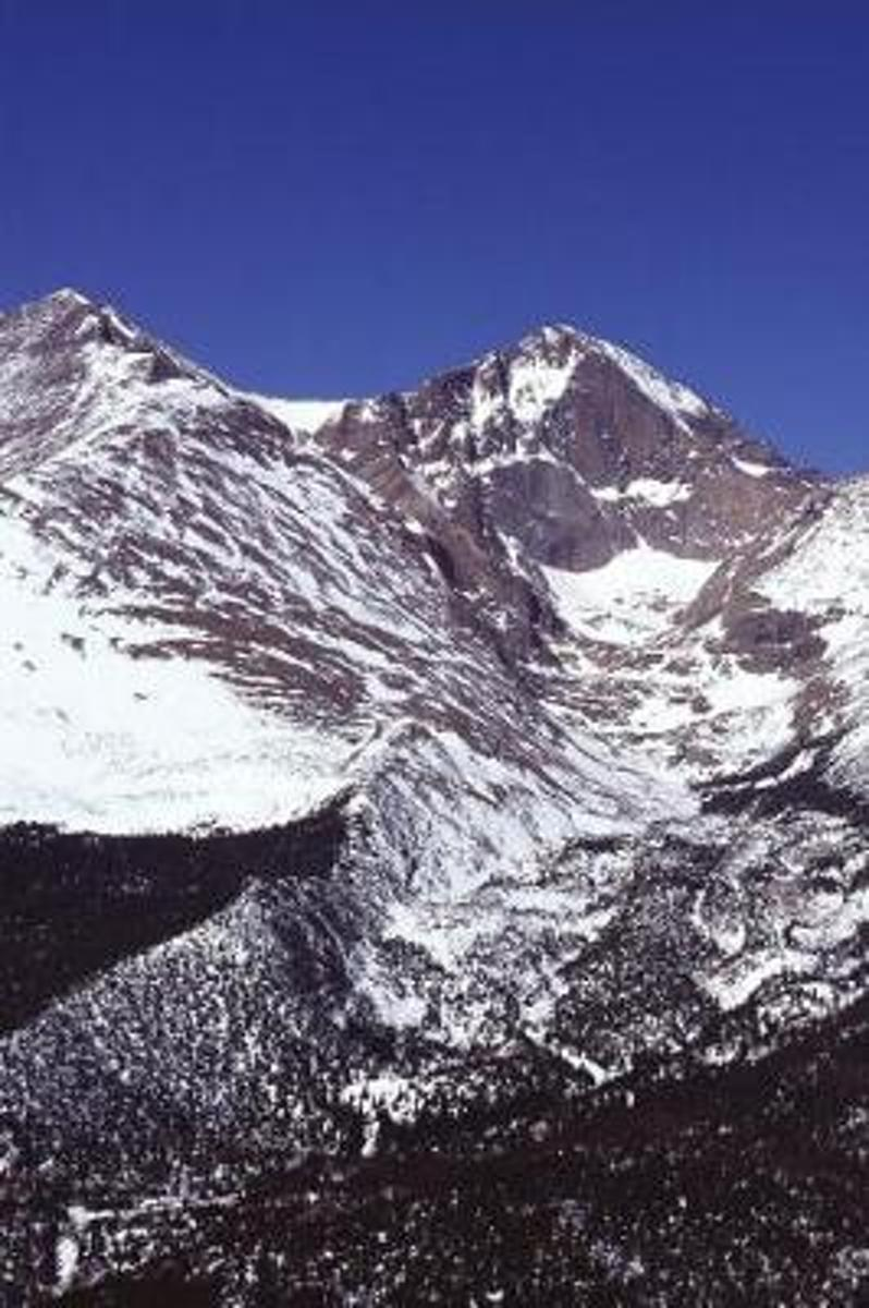 Travel Journal Snow Covered Peaks Rocky Mountain National Park Colorado