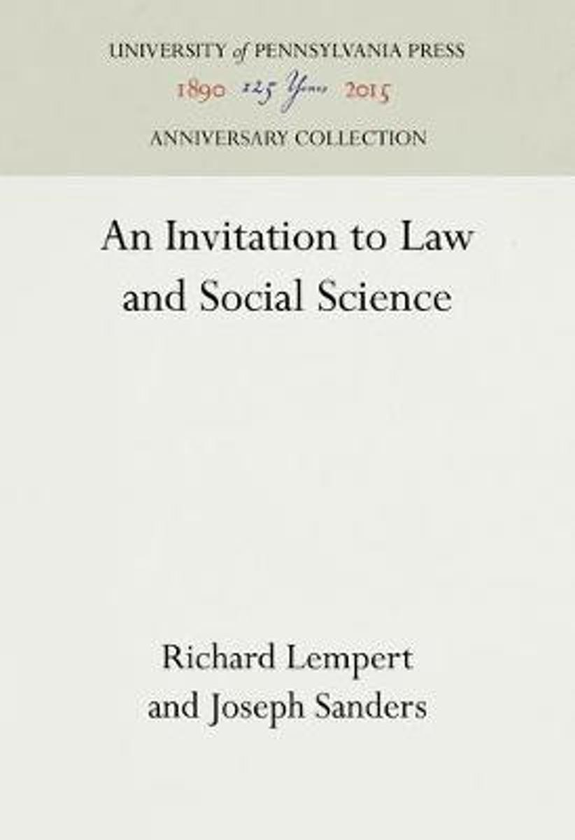 An Invitation to Law and Social Science