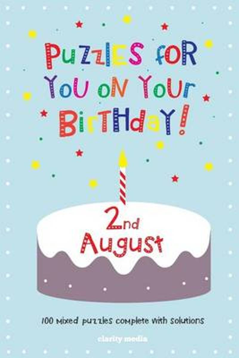 Puzzles for You on Your Birthday - 2nd August
