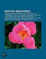 British Ministries: United Kingdom Coalition Government, Conservative Government 1957-1964, Cameron Ministry, Labour Government 1964-1970