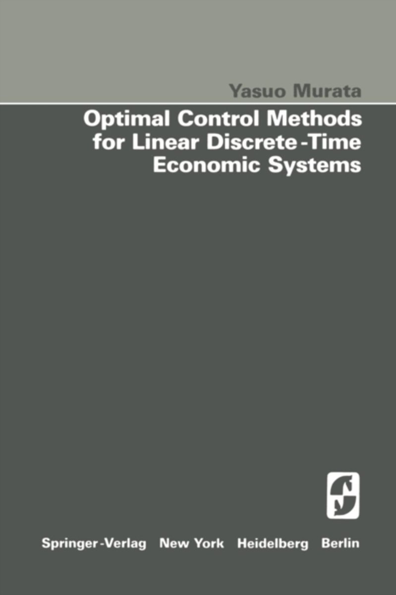 Optimal Control Methods for Linear Discrete-Time Economic Systems