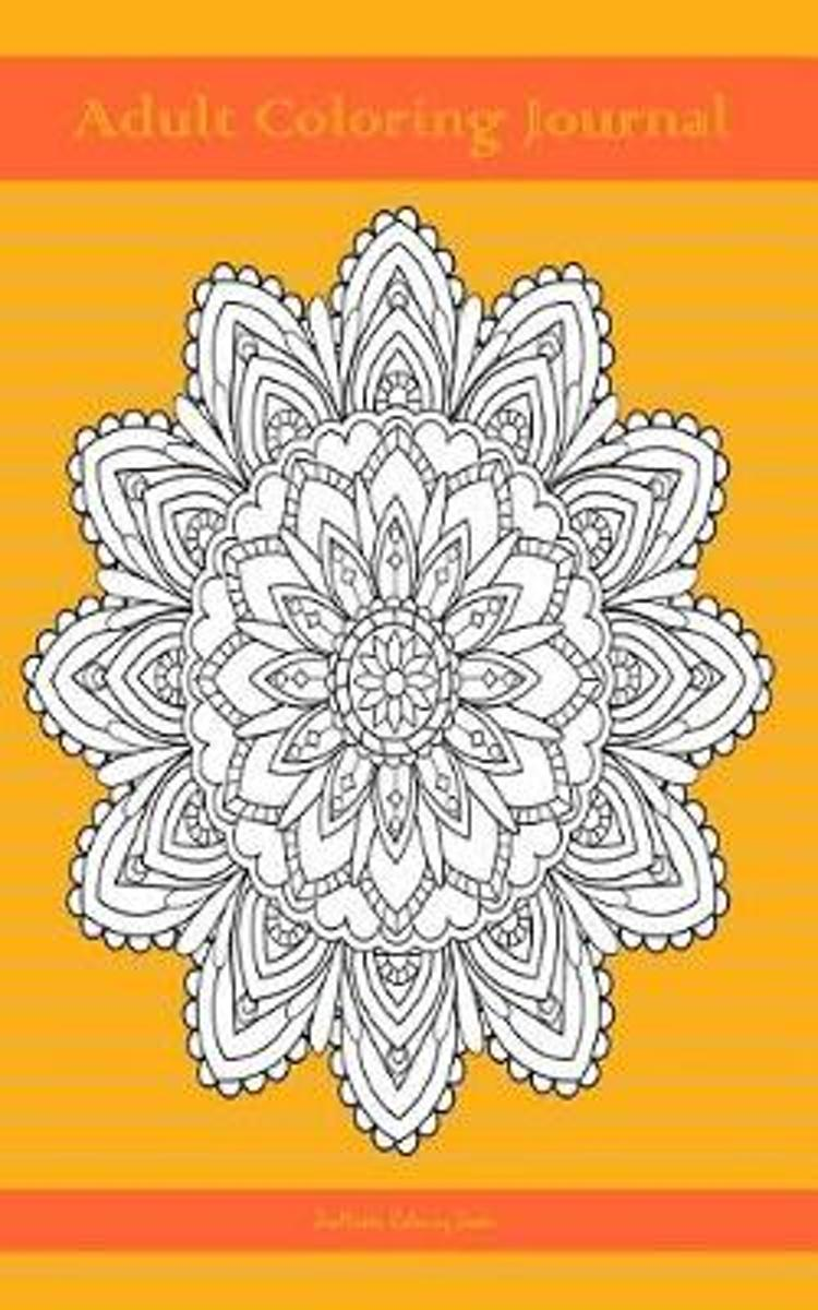 Adult Coloring Journal (orange edition)