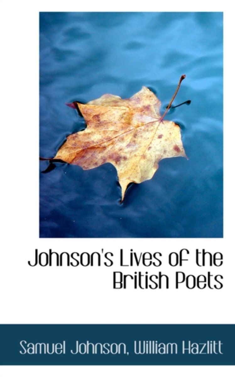 Johnson's Lives of the British Poets