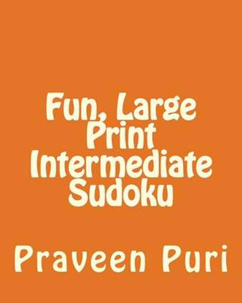 Fun, Large Print Intermediate Sudoku