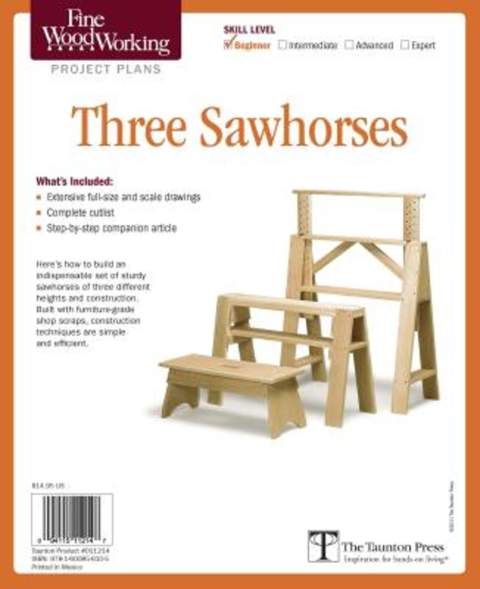 Fine Woodworking's Three Sawhorses Plan