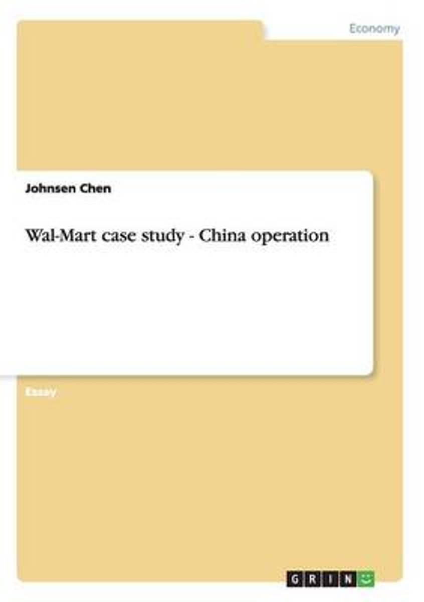 Wal-Mart Case Study - China Operation