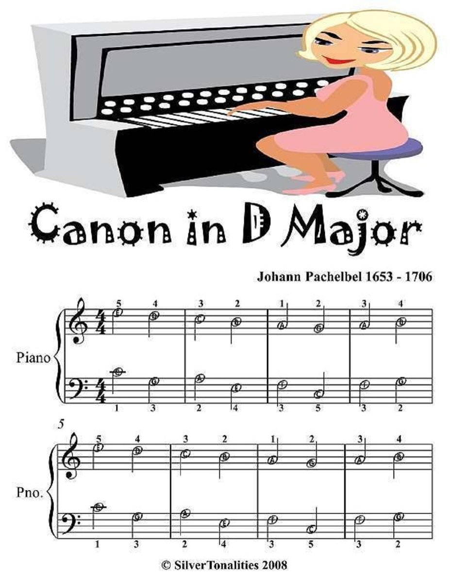 Canon In D Major - Easiest Piano Sheet Music Junior Edition