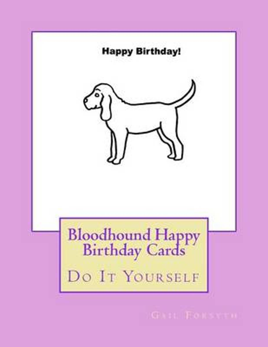 Bloodhound Happy Birthday Cards image