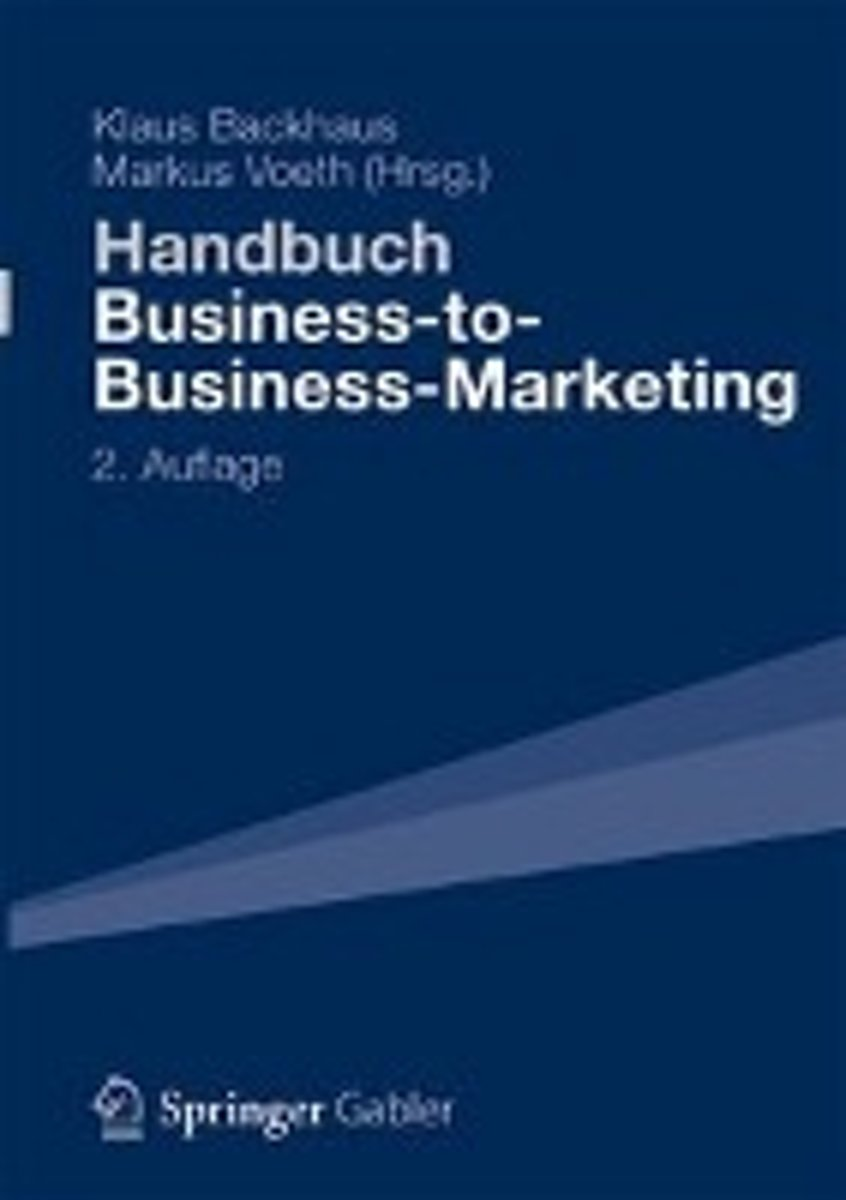Handbuch Business-To-Business-Marketing