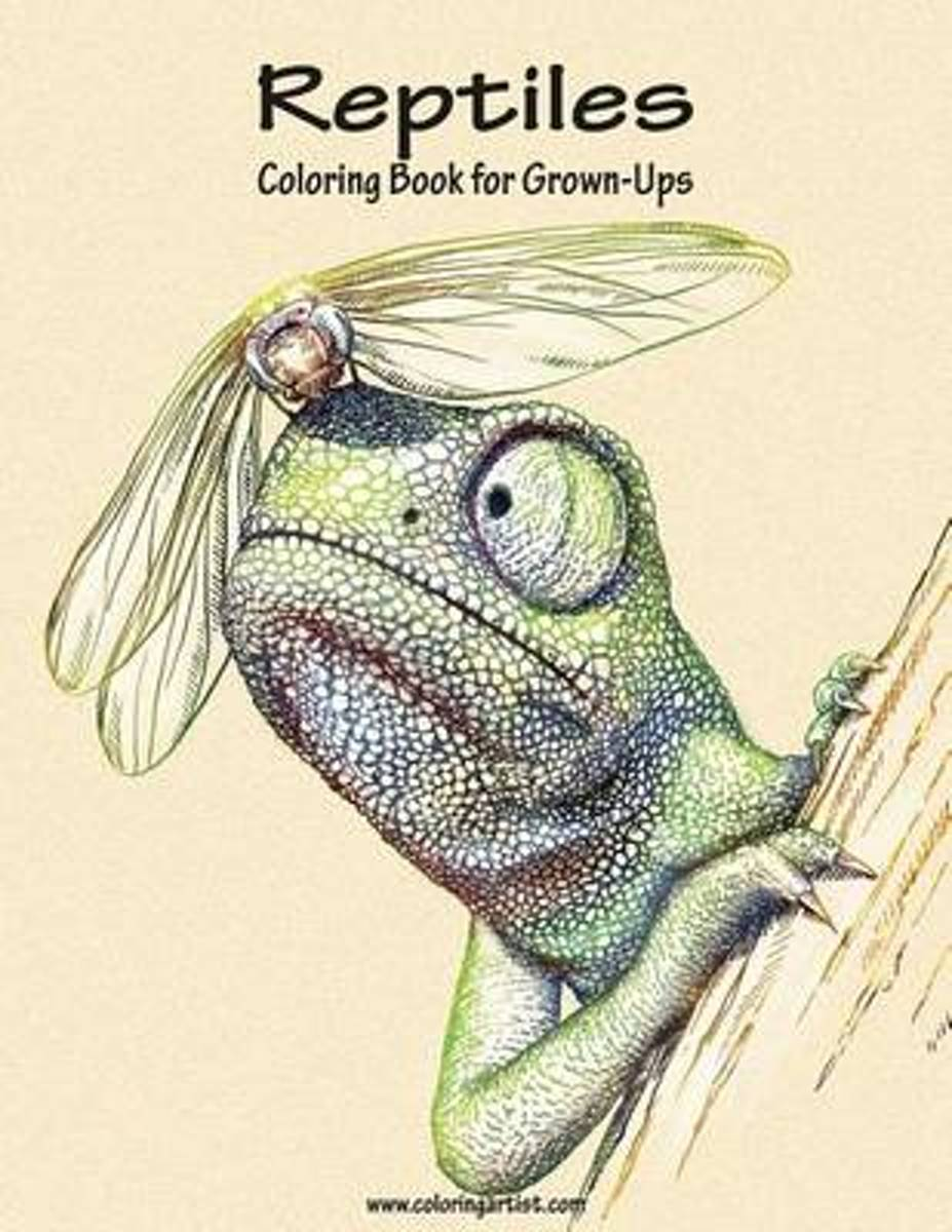 Reptiles Coloring Book for Grown-Ups 1