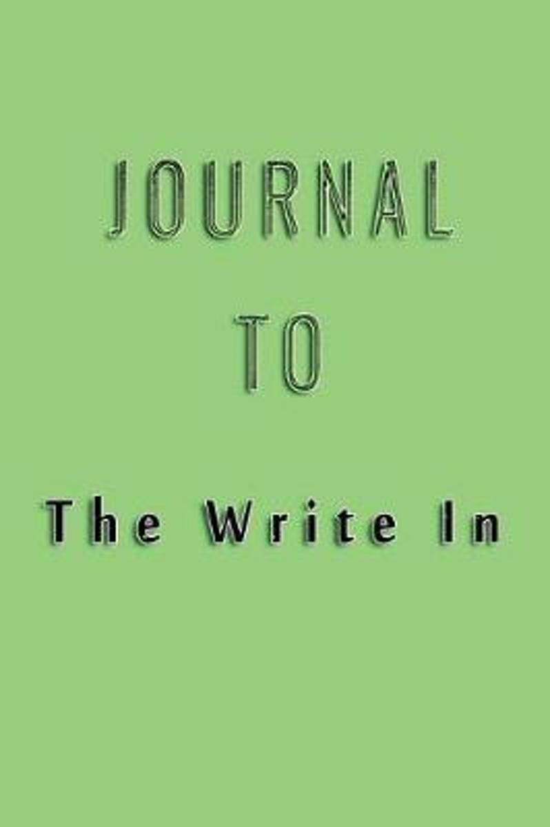 Journal to Write in