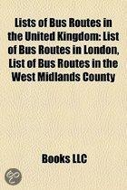 Lists of bus routes in the United Kingdom