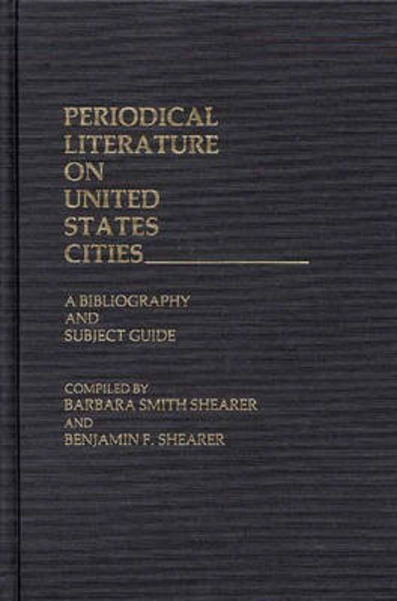 Periodical Literature on United States Cities