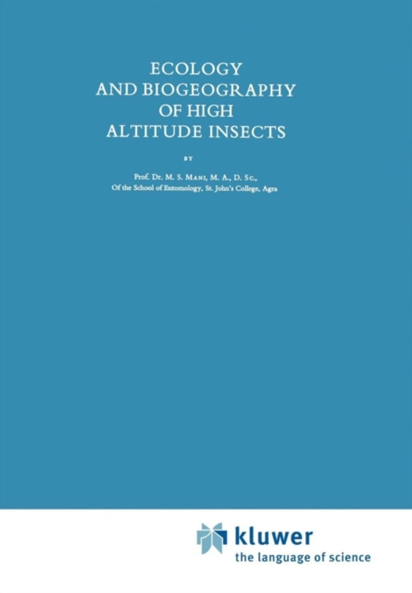 Ecology and Biogeography of High Altitude Insects