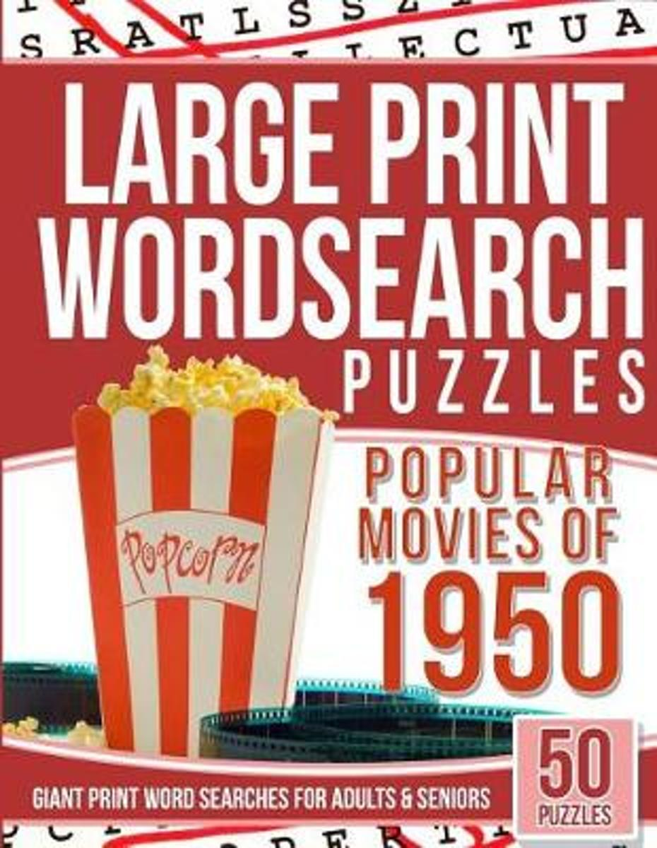 Large Print Wordsearches Puzzles Popular Movies of 1950