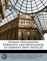 Human Documents: Portraits And Biographies Of Eminent Men; Articles