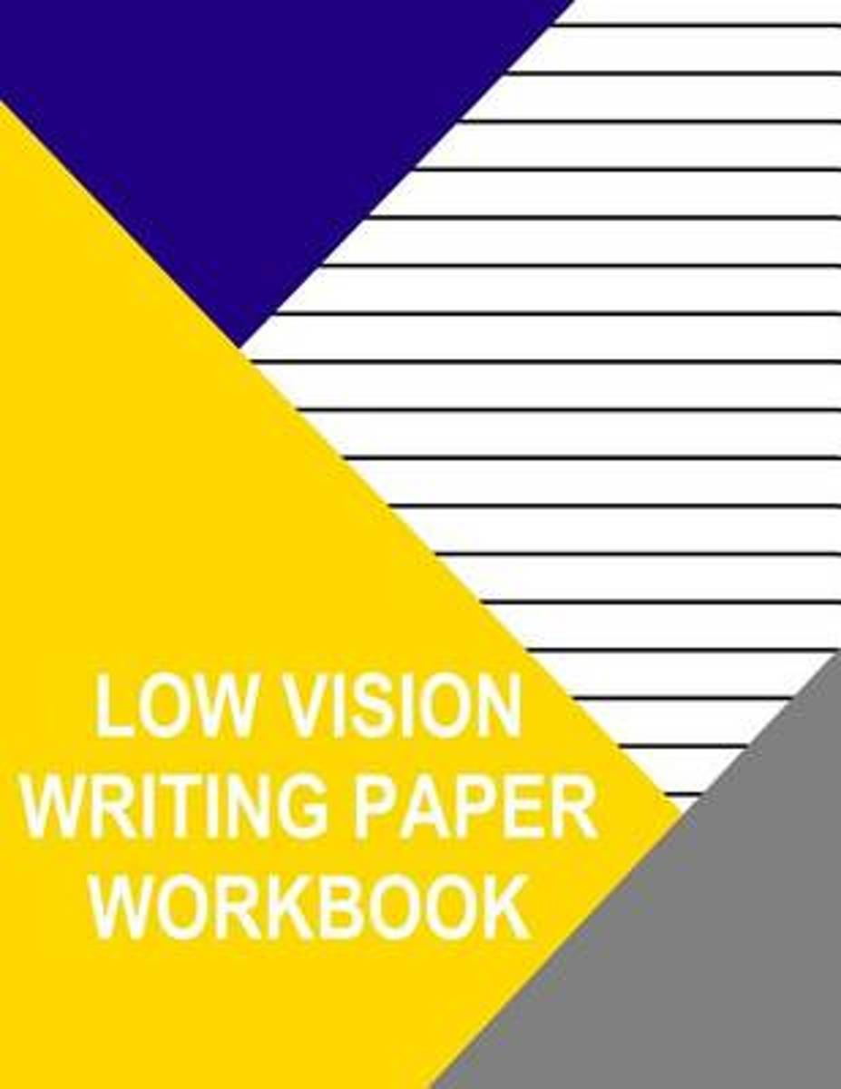 Low Vision Writing Paper Workbook