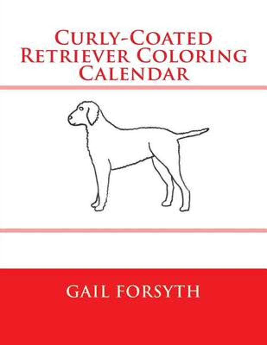 Curly-Coated Retriever Coloring Calendar