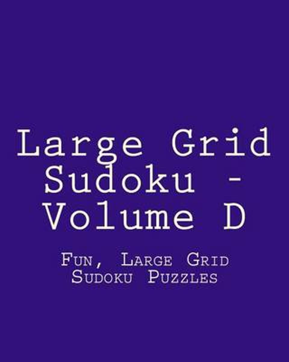 Large Grid Sudoku - Volume D