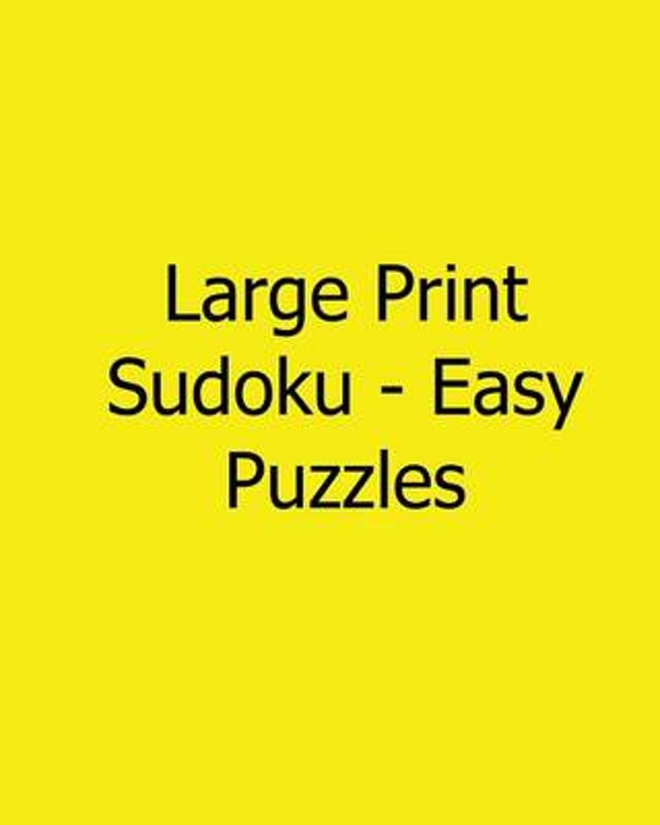 Large Print Sudoku - Easy Puzzles