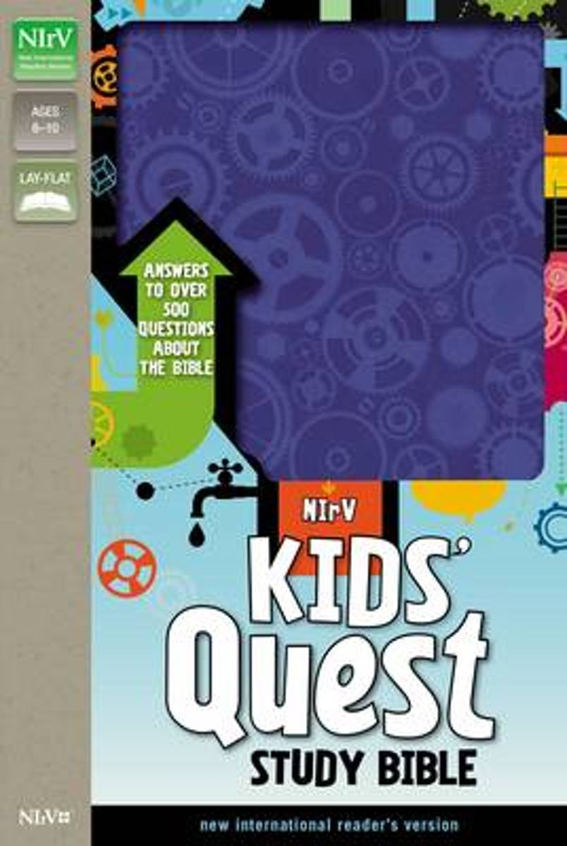 NIrV, Kids' Quest Study Bible, Leathersoft, Purple