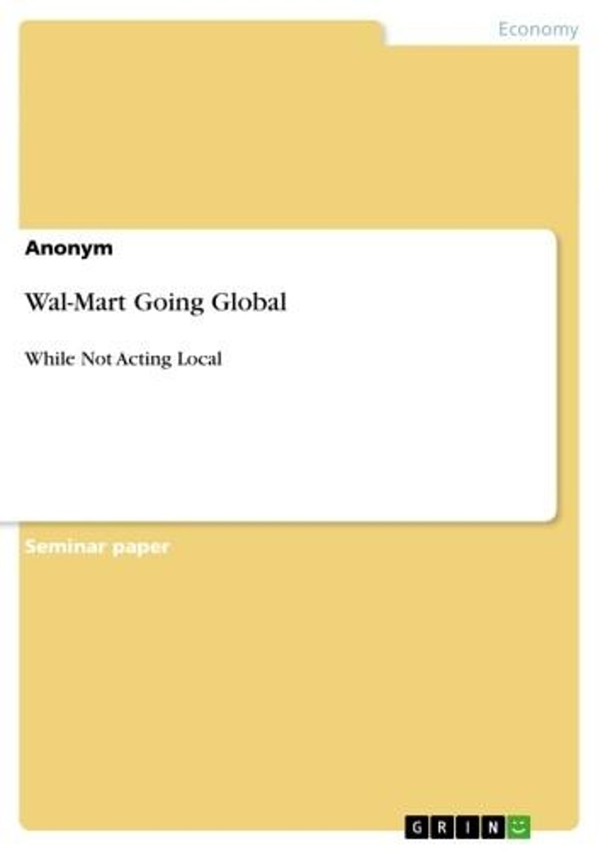 Wal-Mart Going Global