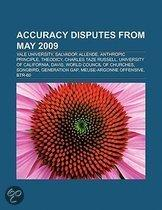 Accuracy disputes from May 2009