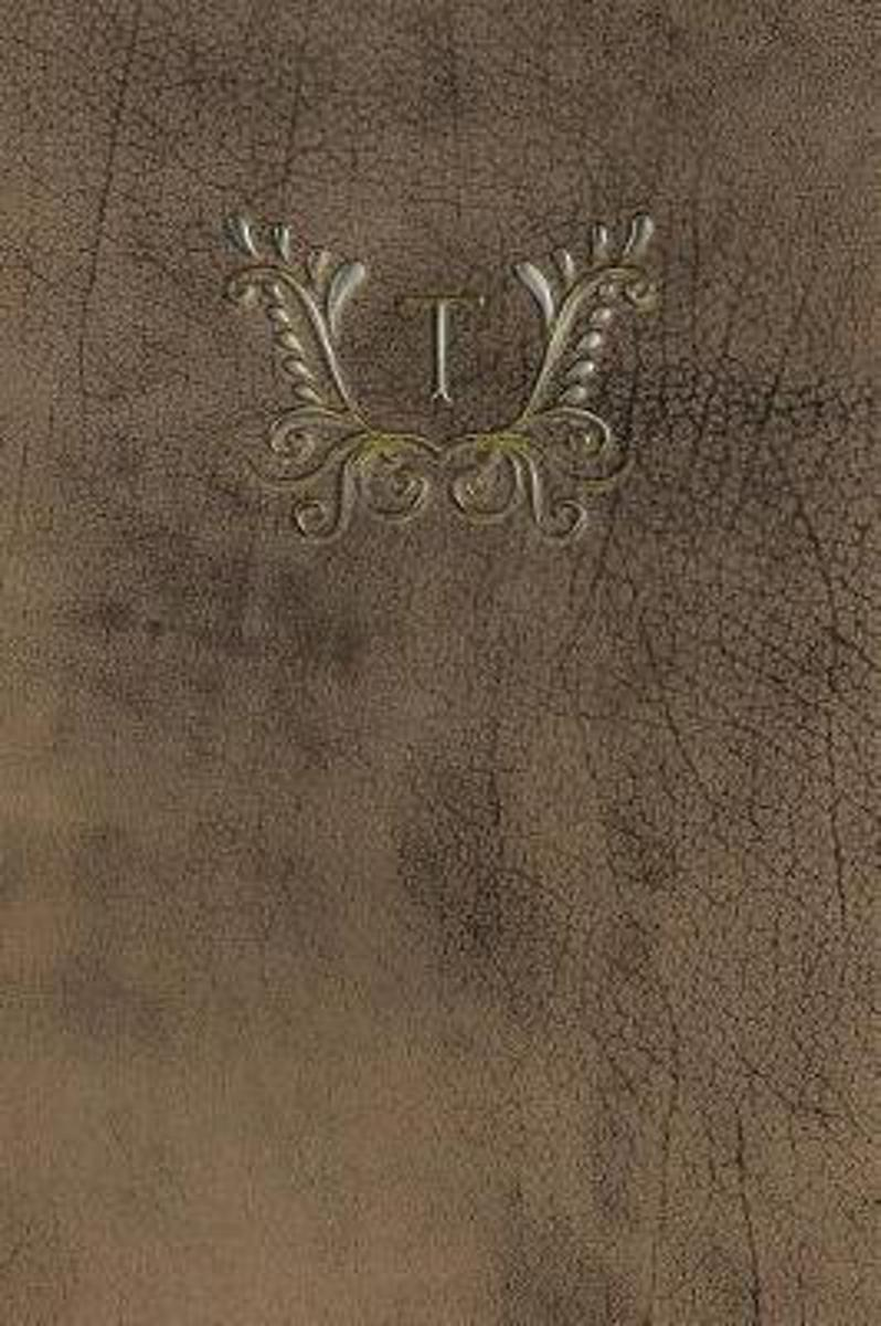 Monogram T Any Day Planner Notebook