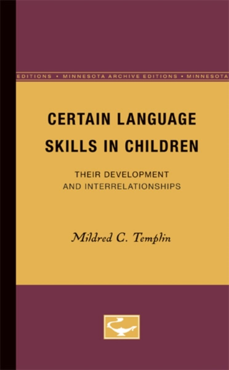 Certain Language Skills in Children