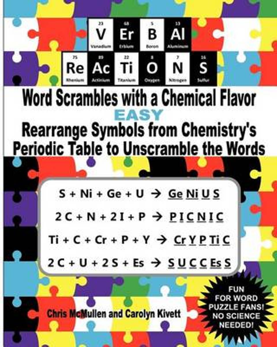 Verbal Reactions - Word Scrambles with a Chemical Flavor (Easy)