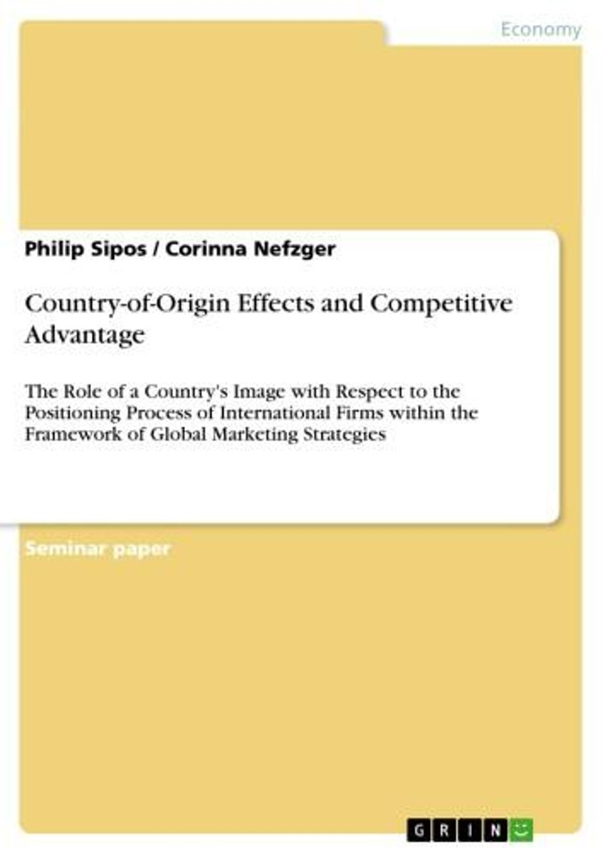 Country-of-Origin Effects and Competitive Advantage