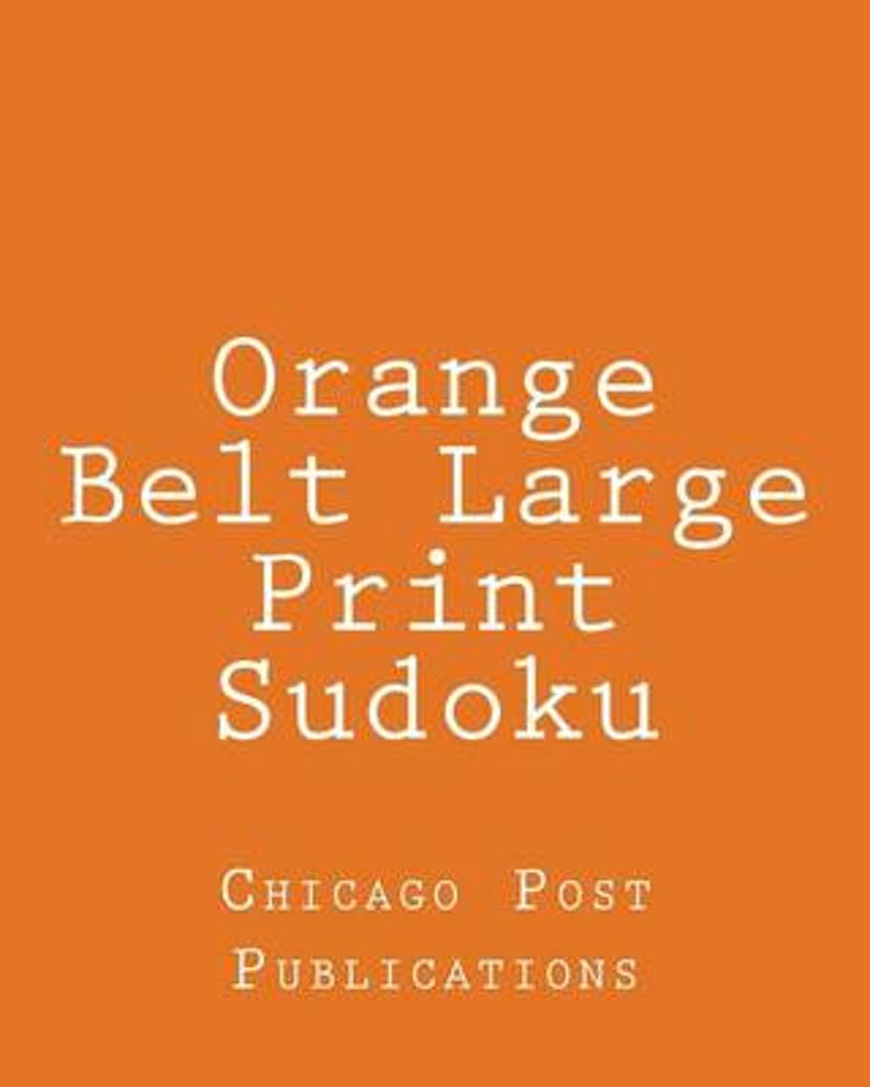 Orange Belt Large Print Sudoku