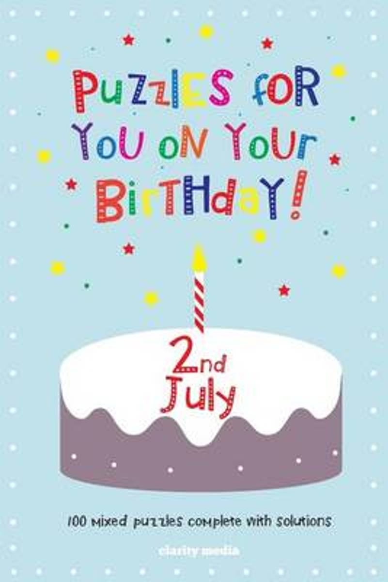 Puzzles for You on Your Birthday - 2nd July